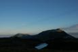 朝の立山室堂からの眺望