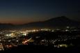 岩手山と盛岡市内の夜景