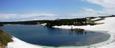 八幡沼と岩手山