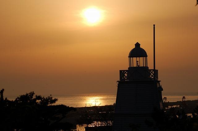 日和山公園からの夕陽