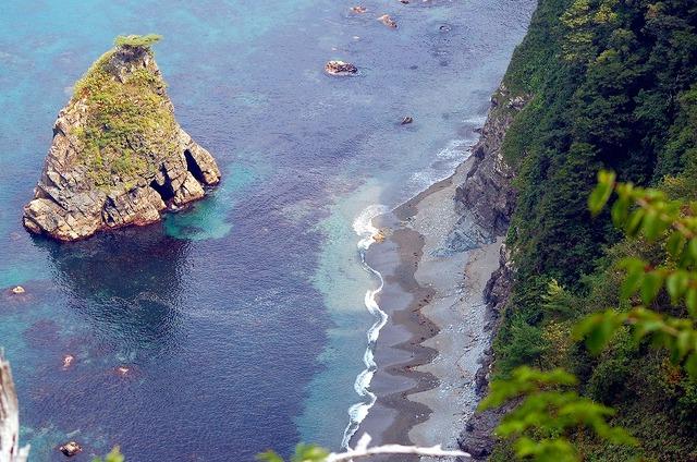 鵜の巣断崖からの海岸