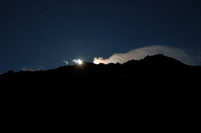 立山の日の出