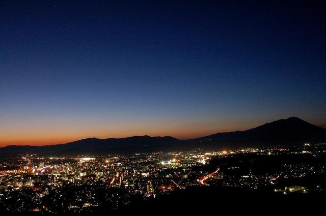岩手山と夜景 Ⅱ